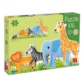 Jumbo Puzzle XXL Jungle, from small to large